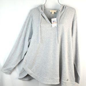 MICHAEL KORS Gray Hoodie Pullover Sweatshirt